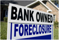 Bank owned foreclosure sign